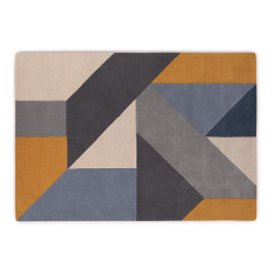 Holden Large wool rug, H160 x W230m, Tonal Blue