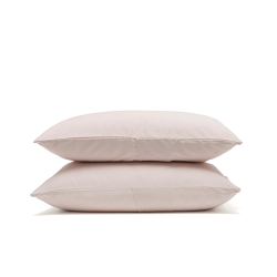 Luxe Bedding Pair of housewife pillowcases, 50 x 75cm, rose