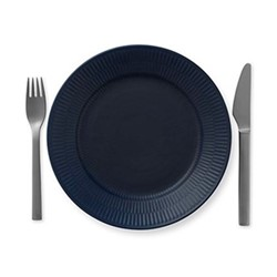 Blue Fluted Plate, 22cm