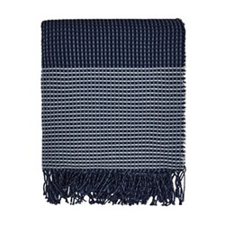 Blowing Grasses Woven throw, L170 x W130, blue
