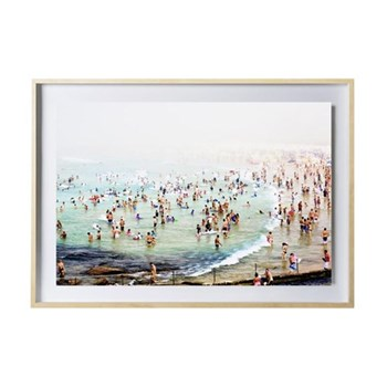 Bondi Beach by Louisa Seton Framed photographic print, 59.4 x 42cm, maple