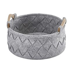Amy Small storage basket, 33 x 17.5cm - 7L, silver