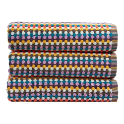 Carnaby Stripe Pair of bath towels, 70 x 137cm, Multi