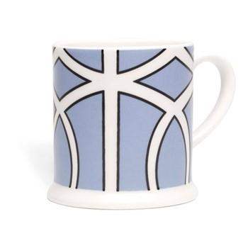 Loop Espresso cup, 6.6 x 6.1cm, cornflower blue/white