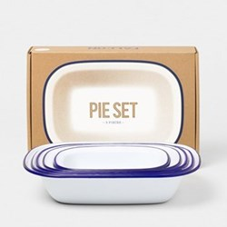 Enamel pie set