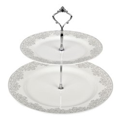 Monsoon - Filigree Silver Cake stand, 29cm