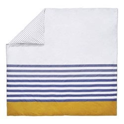 Galley Grade Stripe Super king size duvet cover, L220 x W260cm, comet