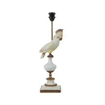 Cockatoo Lamp stand, H45 x W14.7 x D14.7cm, white