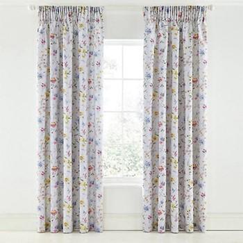 Fleuri Curtains, L228 x W168cm, grey