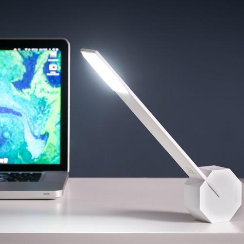 Octagon Desk light, L8.5 x W4 x H38cm, White