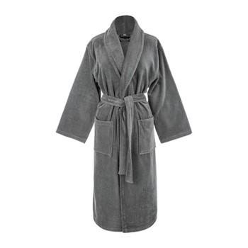 Velour bathrobe, medium, slate
