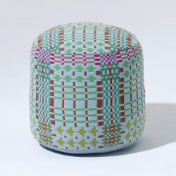 Henry by Donna Wilson Pouffe - soft core, Dia45 x H45cm, Field Day - Dew Drop