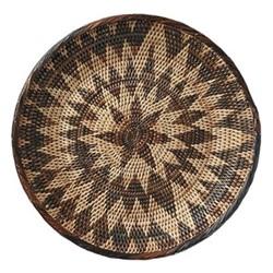 Hadza Round tray, 31cm, brown