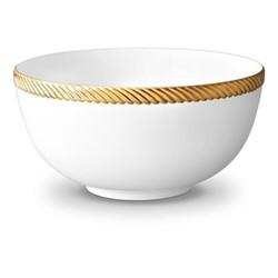 Corde Large bowl, 23cm, gold