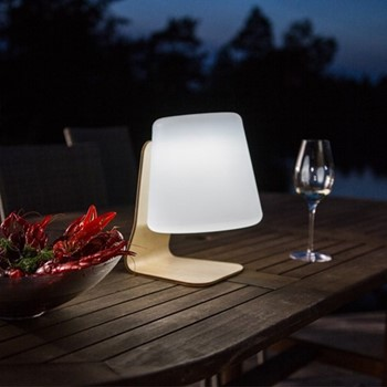 Modern Speaker lantern, L22 x W22 x H28.4cm, white