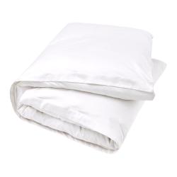 500TC Cotton Sateen Double duvet cover, 200 x 200cm, Snow