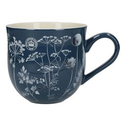 Richmond - Watercolour Meadow Mug, H10cm - 500ml, navy