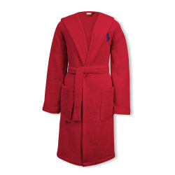 Player Bath robe, large/extra large, red rose