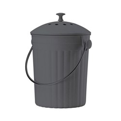 Eco compost pail, 28 x 18cm - 4.5 litre, black