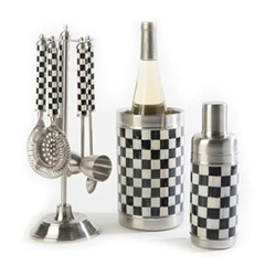Courtly Check Bar tools set, black & white