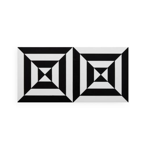Op Art Box, small, Black/White