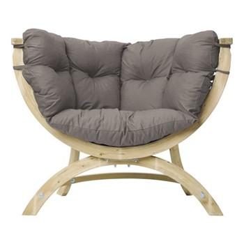 Siena Garden sofa, 118.5 x 93.5 x 58cm, taupe
