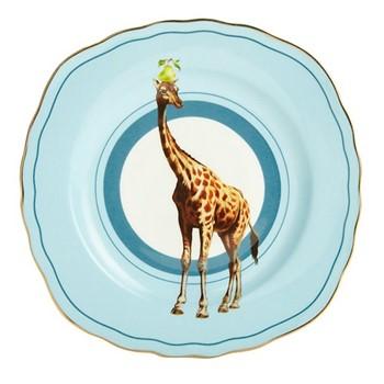 Giraffe Set of 6 cake plates, 16cm