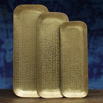 Kadova Tray, 39.5 x 14cm, antique brass