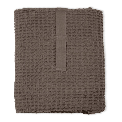 Waffle Towel and blanket, 150 x 100cm, Clay