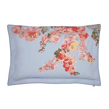 Hollyhock Floral Oxford pillowcase, L48 x W74cm, hydra blue
