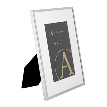 "Photograph frame, 4 x 6"", silver plated"