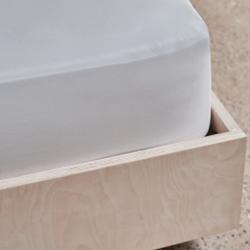 Crisp & Cool Organic - 400 TC King size fitted sheet, W150 x L200 x D40cm, White