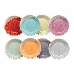 1815 Brights Set of 8 dip trays, 9cm, Mixed Colours