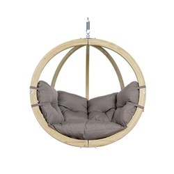 Globo Hanging chair, 121 x 118 x 69cm, taupe