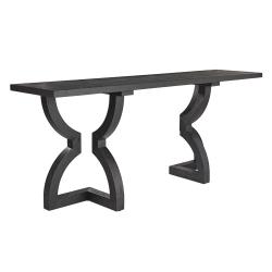 Kaishu Console table, L200 x W50 x H85cm, black wood