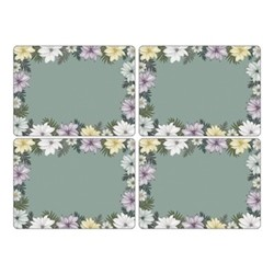 Atrium Set of 4 placemats, 40 x 30cm, green