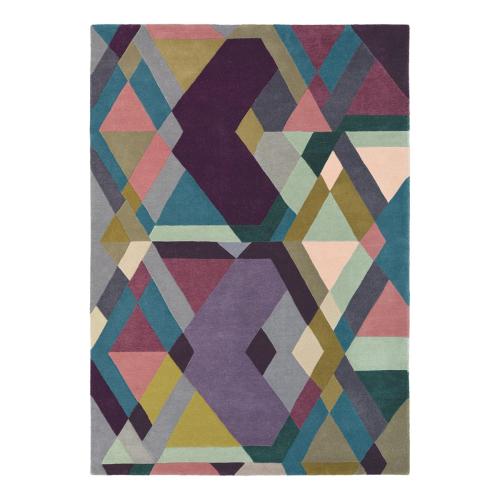 Mosaic Rug, 170 x 240cm, Light Purple