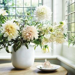 White Folia Rounded vase, 21cm