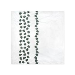 Jungle Leaf Super king size duvet cover, H220 x L260cm, gold and green