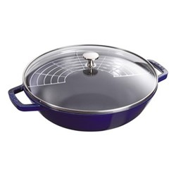 Small wok, 30cm, dark blue