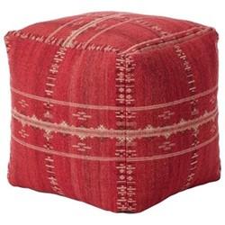 Ithaca Hand-Woven floor cushion, H50 x L50 x W50cm, grenache