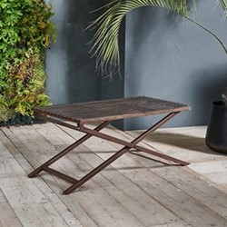 Odee Outdoor coffee table, 40 x 100 x 50cm, iron