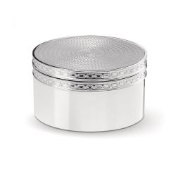 Vera Wang - With Love Nouveau Treasure box, 4.3 x 8 x 8cm, silver plate