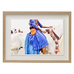 Nihang Warrior by Astrid Harrisson Framed fine art photographic print with deckled edge, H43 x W57 x D3.3cm, ash frame