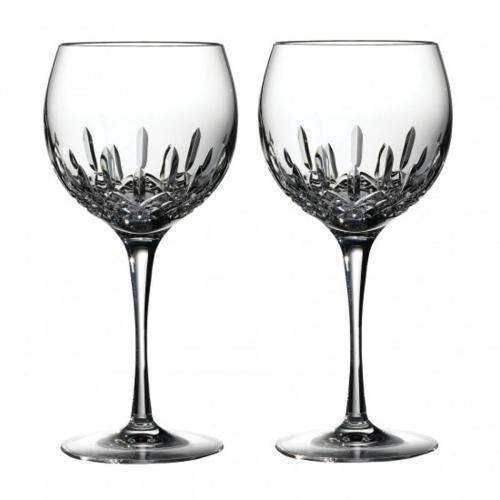 Lismore Essence Pair of balloon wine glasses