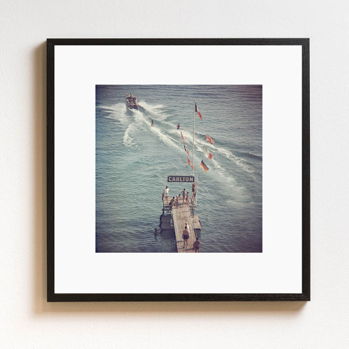 Slim Aarons - Cannes Watersports Framed photograph, H61 x W61cm