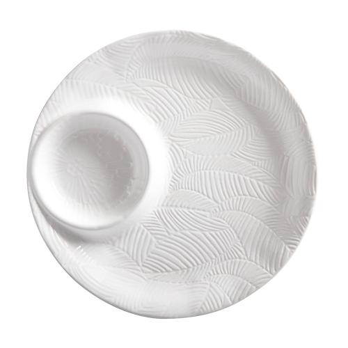 Panama Panama Stoneware Chip and Dip Serving Bowl Gift Boxed, White
