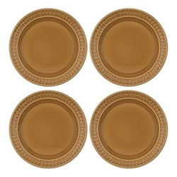 Botanic Garden Harmony Set of 4 plates, 27cm, amber