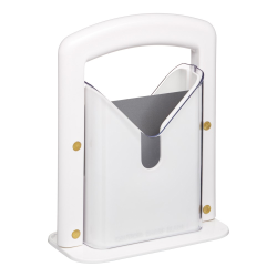 Bagel guillotine cutter, stainless steel