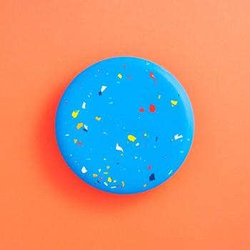 Terrazzo Jesmonite Trivet, L182 x W182 x H1cm, blue
